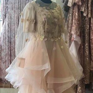 Champagne/ blush custom gown.